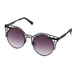 Quay Fleur Cutout Black Sunglasses